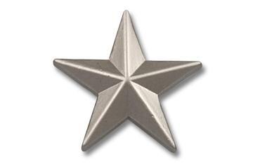 Pin silberner Stern