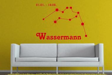 Wandtattoo Sternbild Wassermann