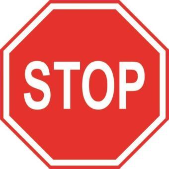 Aufkleber STOP Stopschild