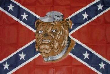 Fahne Südstaaten Bulldogge 90 x 150 cm