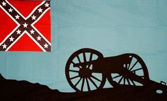 Fahne Südstaaten Thunderkanone 90 x 150 cm
