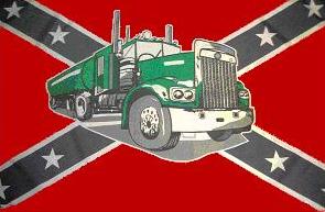 Fahne Südstaaten Tank-Truck 90 x 150 cm