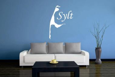 Wandtattoo Sylt Karte