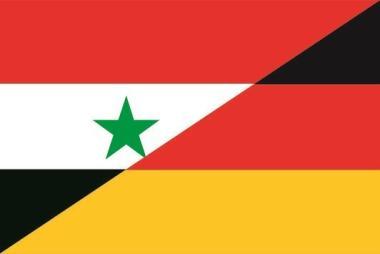 Flagge Syrien - Frankreich