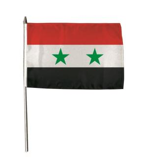 Stockflagge Syrien 30 x 45 cm