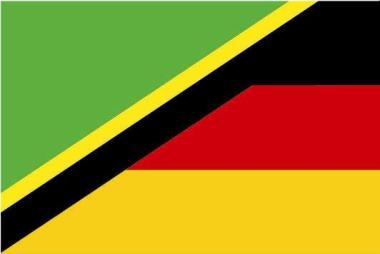 Flagge Tansania - Deutschland