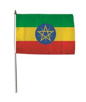 Stockflagge Äthiopien 30 x 45 cm
