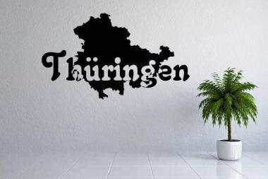 Wandtattoo Thüringen Karte