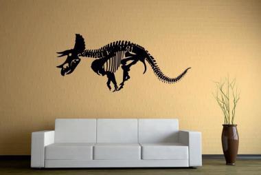 Wandtattoo Triceratops Skelett
