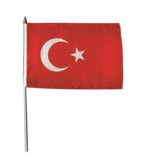 Stockflagge Türkei 30 x 45 cm