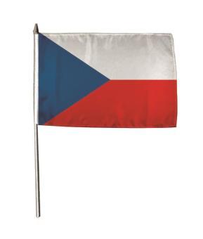 Stockflagge Tschechien 30 x 45 cm
