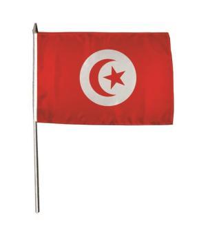 Stockflagge Tunesien 30 x 45 cm