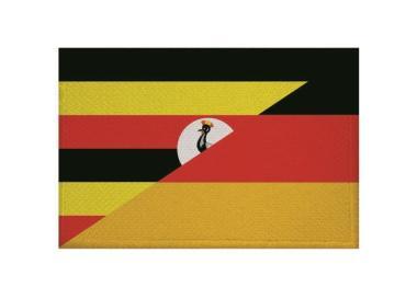 Aufnäher Patch Uganda - Deutschland 9 x 6 cm