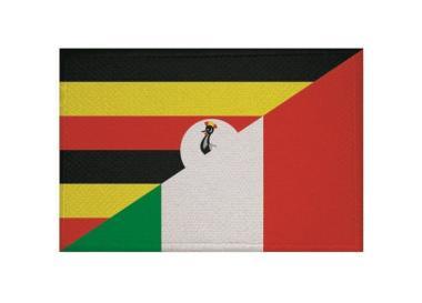 Aufnäher Uganda-Italien Patch 9 x 6 cm