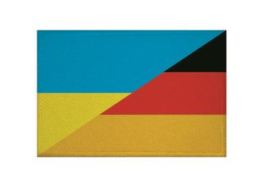 Aufnäher Patch Ukraine - Deutschland 9 x 6 cm