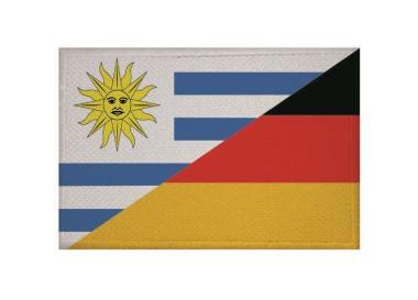 Aufnäher Patch Uruguay - Deutschland 9 x 6 cm