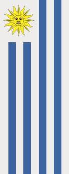 Flagge Uruguay im Hochformat
