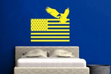 Wandtattoo USA Flagge mit Adler
