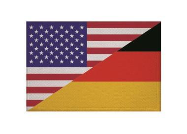 Aufnäher Patch USA - Deutschland 9 x 6 cm