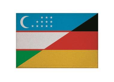 Aufnäher Usbekistan - Deutschland Patch 9 x 6 cm