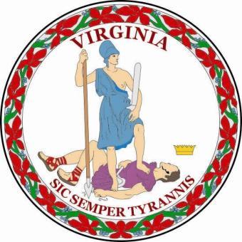 Aufkleber Virginia Siegel Seal