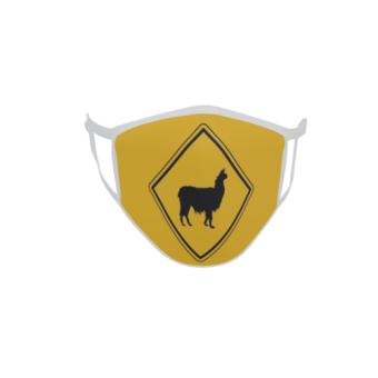 Gesichtsmaske Behelfsmaske Mundschutz Vorsicht Lama