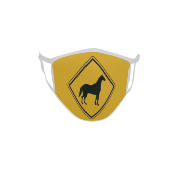Gesichtsmaske Behelfsmaske Mundschutz Vorsicht Pferd