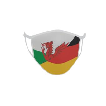 Gesichtsmaske Behelfsmaske Mundschutz Wales-Deutschland