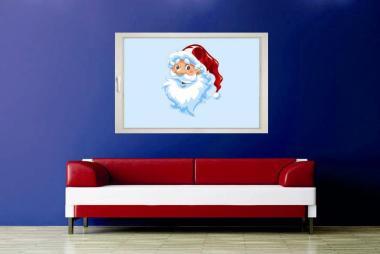 Fenstertattoo Weihnachtsmannkopf