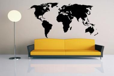 Wandtattoo Weltkarte