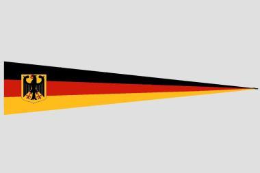 Wimpel Deutschland mit Adler 140 x 27 cm