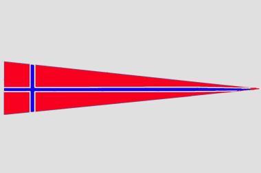 Wimpel Norwegen 140 x 27 cm