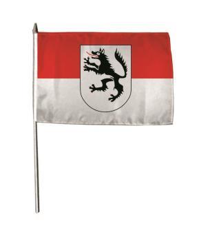 Stockflagge Wolfratshausen 30 x 45 cm