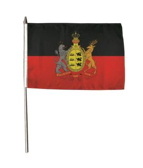 Stockflagge Württemberg furchtlos & treu 30 x 45 cm
