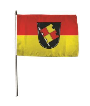Stockflagge Würzburg 30 x 45 cm