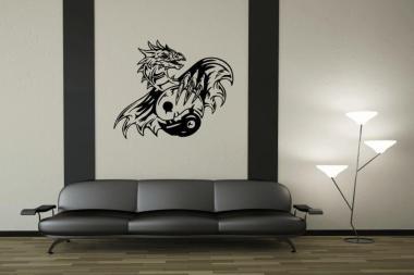 Wandtattoo Yin Yang Drache Motiv Nr. 2