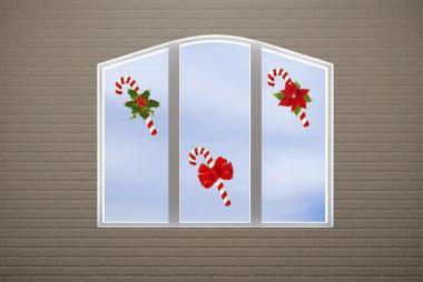Fenstertattoo Zuckerstangen
