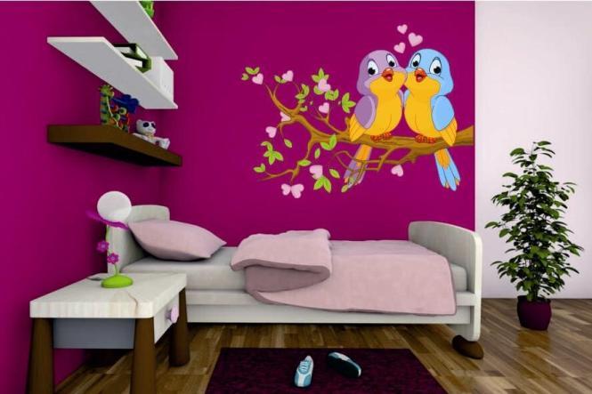 wandtattoo 2 verliebte v gel. Black Bedroom Furniture Sets. Home Design Ideas