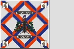 Fahne Standarte Frankreich 4. Halb-Brigade 150 x 150 cm