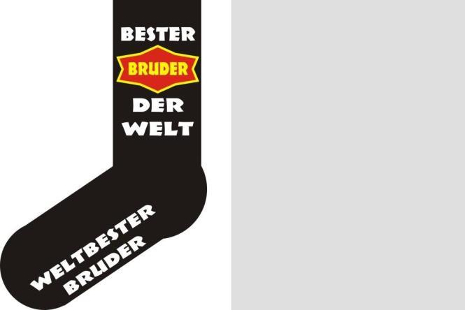 Socken Bester Bruder der Welt Größe 40 - 45