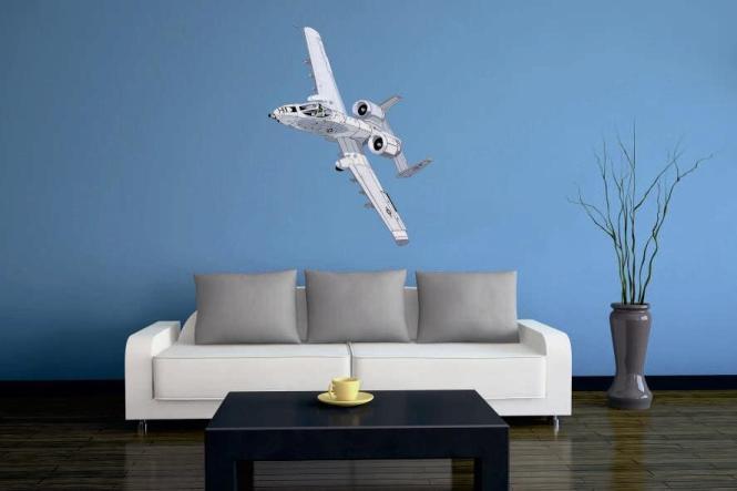 Wandtattoo A-10 Thunderbolt Color