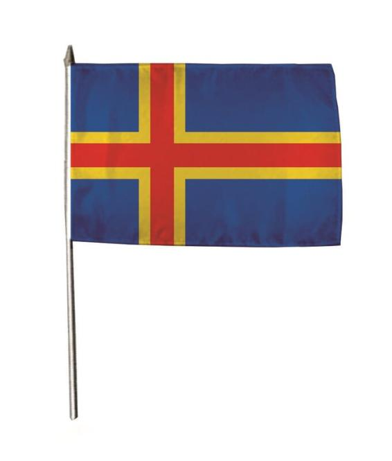 Stockflagge Aaland 30 x 45 cm