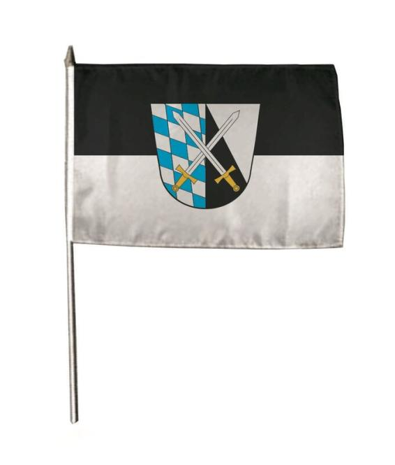 Stockflagge Abensberg 30 x 45 cm