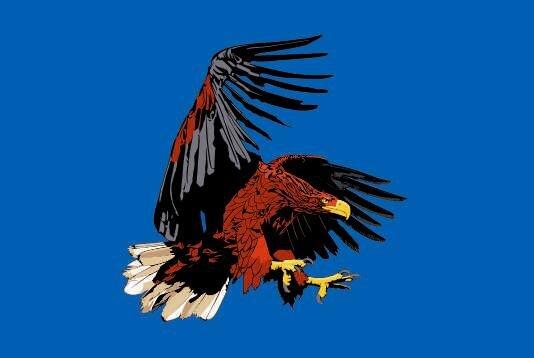Flagge Adler blau
