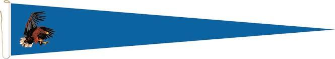 Langwimpel Adler blau