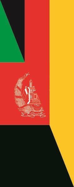 Flagge Afghanistan - Deutschland im Hochformat