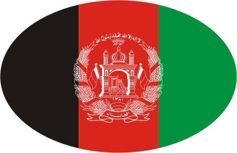 Aufkleber oval Afghanistan 10 x 6,5 cm
