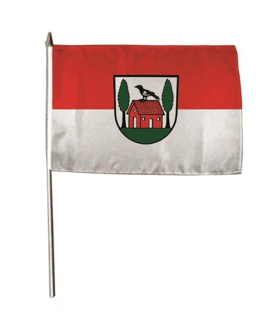 Stockflagge Aglasterhausen 30 x 45 cm