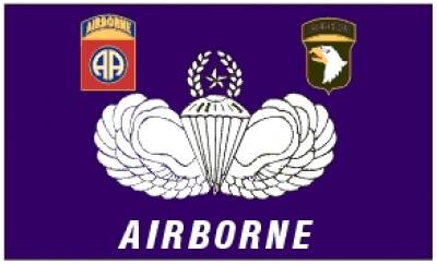 Fahne Airborne Parachute 90 x 150 cm