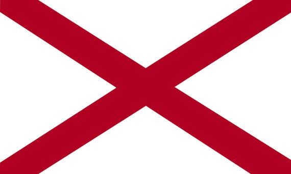 Fahne Alabama 30 x 45 cm